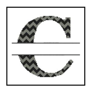 Chevron C Monogram cross stitch