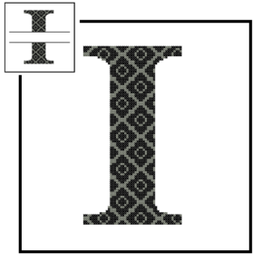 diamond B Monogram cross stitch