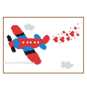 Aeroplane cross stitch