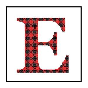 Buffalo Plaid E cross stitch