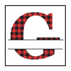 Buffalo Plaid G cross stitch