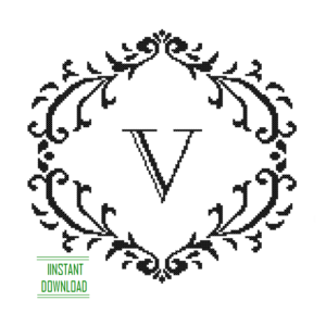 Monogram V alphabet